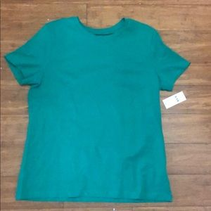 Lord and Taylor Ocean Green Cotton T-Shirt